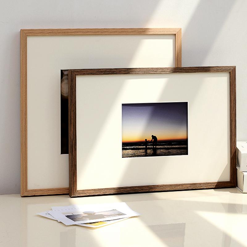 实木相框挂墙定制相册框架A4证书框创意摆台木质24寸8开k装裱画框