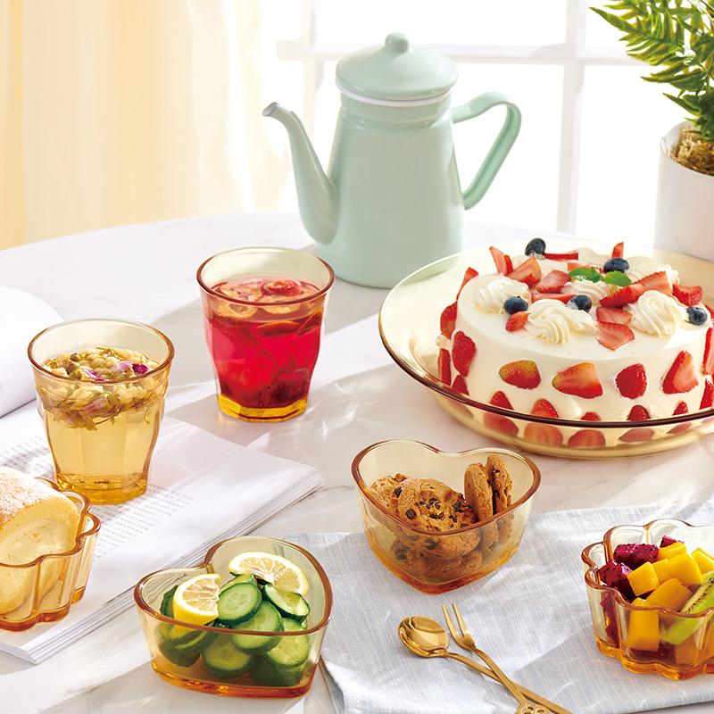 康宁餐具pyrex旗舰款家用玻璃透明套装碗盘碗碟盘子宜家16件套【图4】