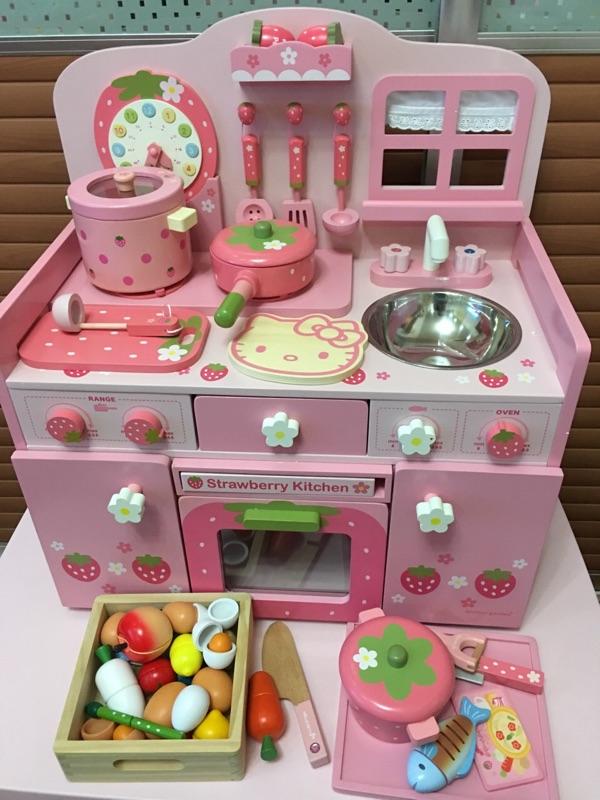 仿真过家家厨房木制儿童玩具2-3-6岁宝宝做饭灶台厨具女孩礼物
