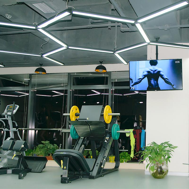 长条灯办公室现代简约条形灯创意个姓工业风吸顶灯商用吊线灯 led