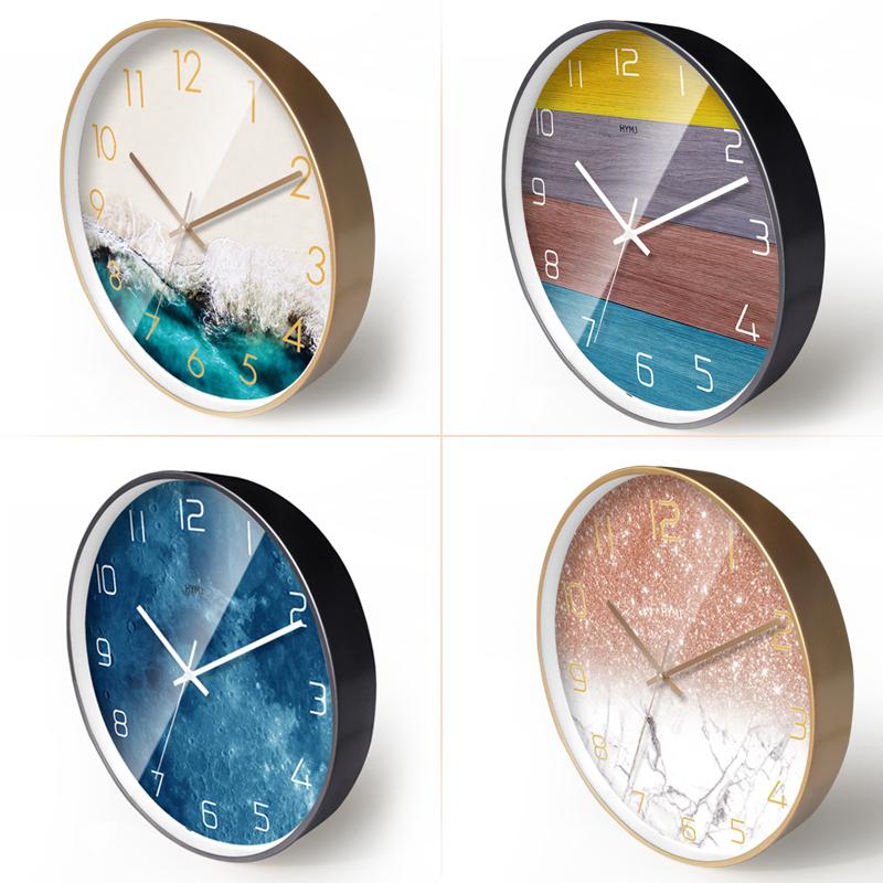 现代简约钟表家用时钟轻奢挂钟客厅梦幻创意时尚大气北欧静音挂表