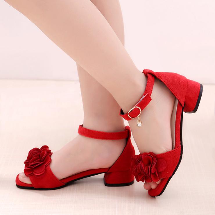 童鞋女童凉鞋2019新款夏季时尚韩版中大童儿童高跟鞋女孩小公主鞋