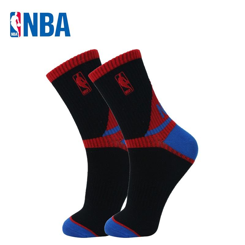 NBA袜子男精梳棉中筒防滑篮球运动袜Y跟贴脚底橡筋 四季通用