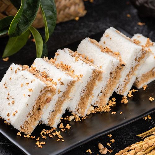 温州特产手工传统糕点桂花糕糯米糕网红孕妇零食夹心糕小米糕包邮 - 图1