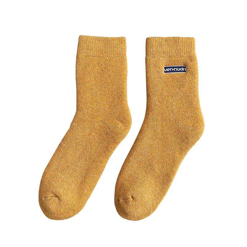 羊毛袜子女加厚加绒毛圈中筒袜冬季百搭保暖超厚长袜秋冬款毛巾袜主图