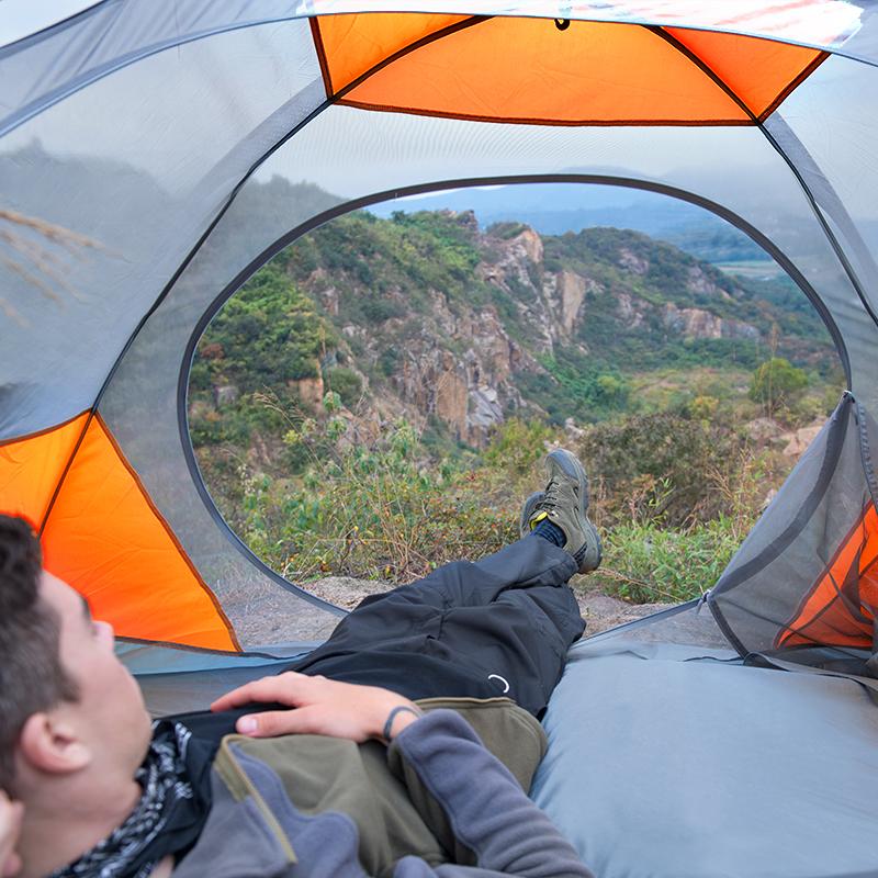 帐篷户外2人3-4沙滩野营单人双人双层加厚防暴雨露营防雨防晒钓鱼