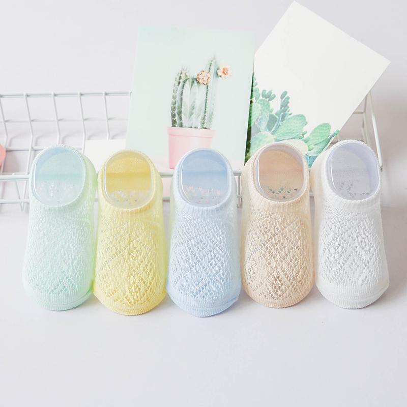 儿童袜子网眼船袜夏季薄款纯棉男童女童新生婴儿宝宝袜子凉快短袜
