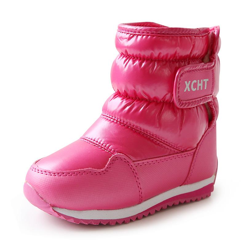 儿童棉靴女童雪地靴2019新款宝宝雪地棉户外防水防滑冬季加绒男童