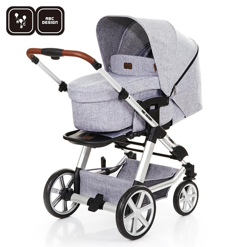 德国ABC Design高景观推车四轮避震带睡篮可坐可躺婴儿推车Turbo4
