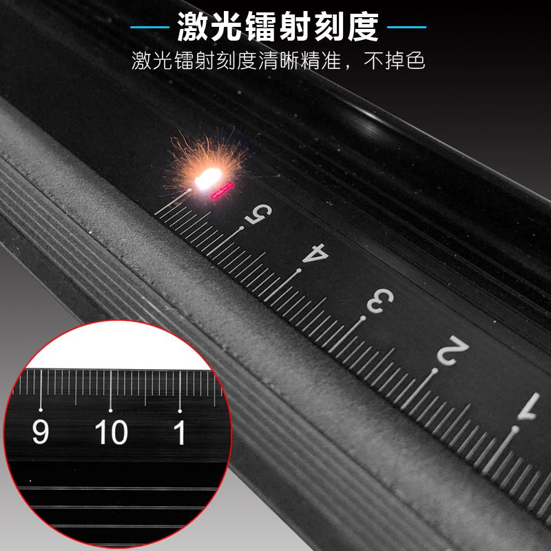 NAKIOO钢直尺学生30cm20cm加厚裁切尺广告防护美工绘图防滑导向尺