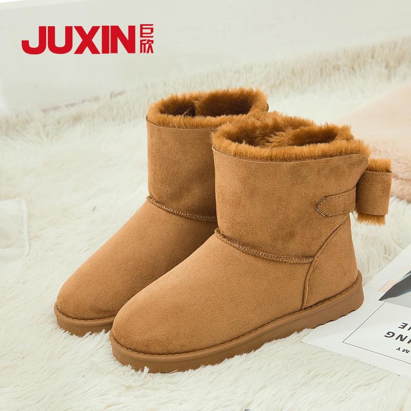 2018新款雪地靴女短靴冬季短筒韩版靴子平底加绒保暖棉鞋防滑百搭