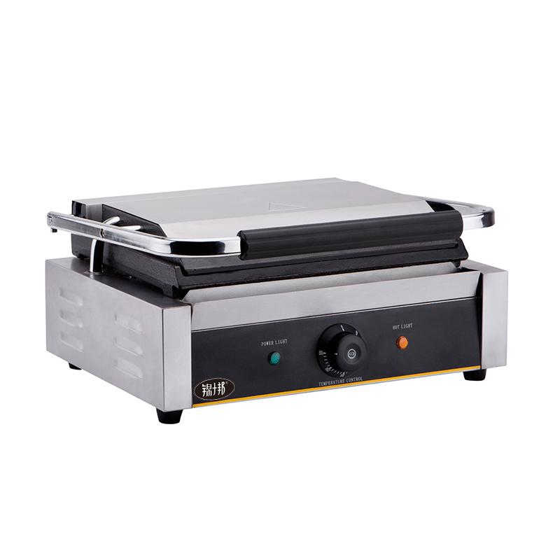 锦十邦 商用电热压板扒炉帕尼尼机上下全平三明治机意式三文治机