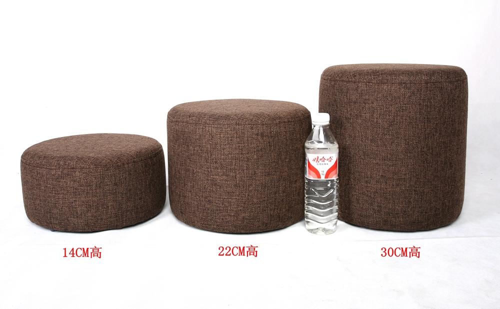 皮凳实木圆墩穿换鞋凳布艺沙发凳小凳子茶几凳坐墩板凳小圆凳矮凳