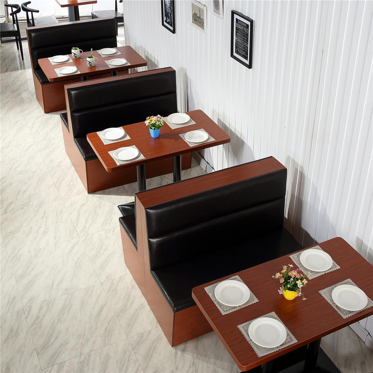 卡座沙发 咖啡厅西餐厅餐饮沙发 汉堡店奶茶店休闲餐厅牛角椅桌椅