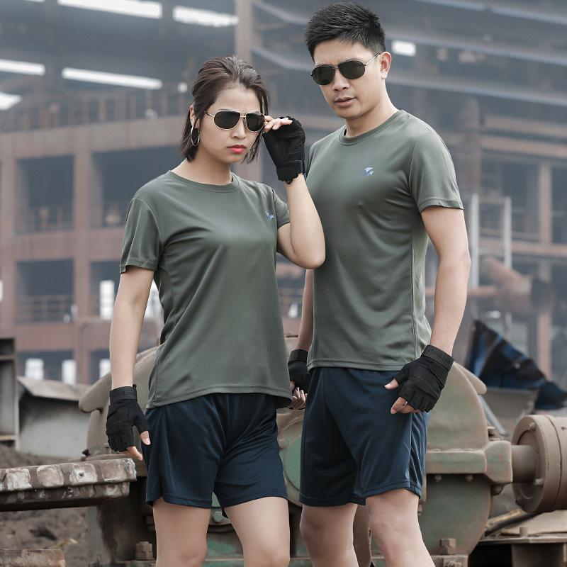 正品体能训练服套装男陆军07体能服作训军迷T恤夏迷彩服军人用品