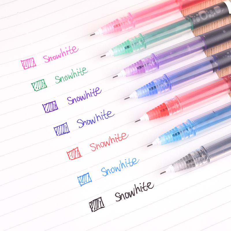 白雪直液式走珠笔速干彩色手绘笔