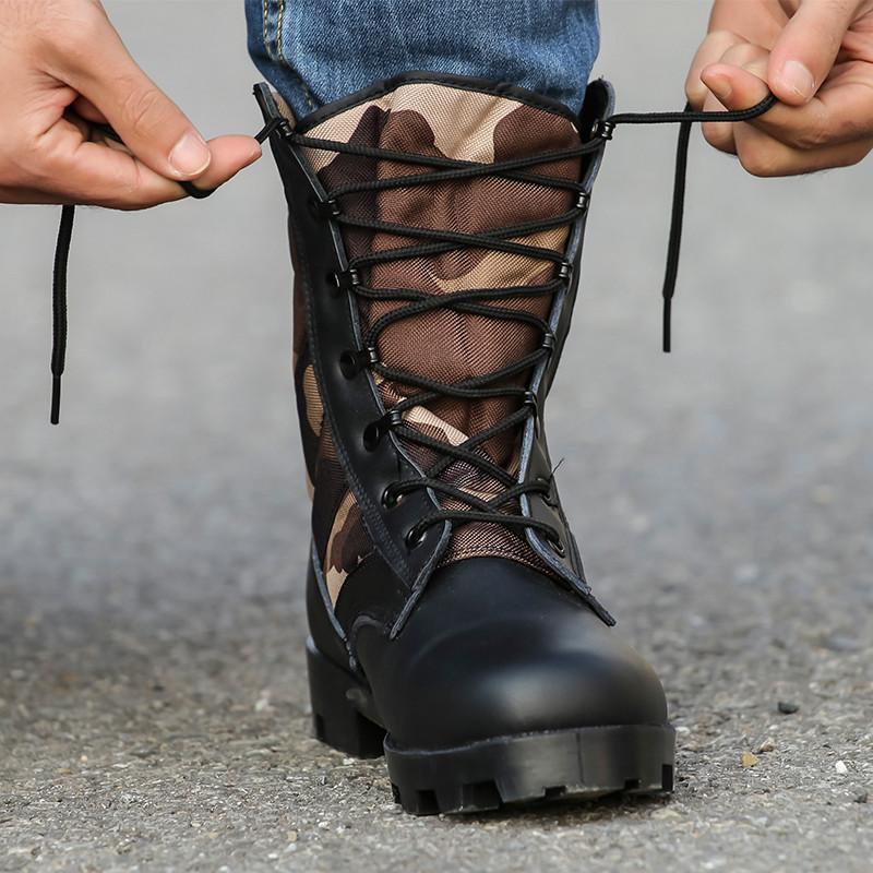 夏季特种兵军靴男作战靴减震登山靴陆战靴沙漠战术靴耐磨超轻军鞋