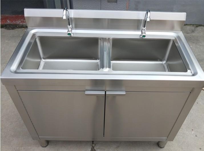 洗手池厨房柜子洗手盆水槽沥水架柜组合 304 经济不锈钢洗菜盆单槽