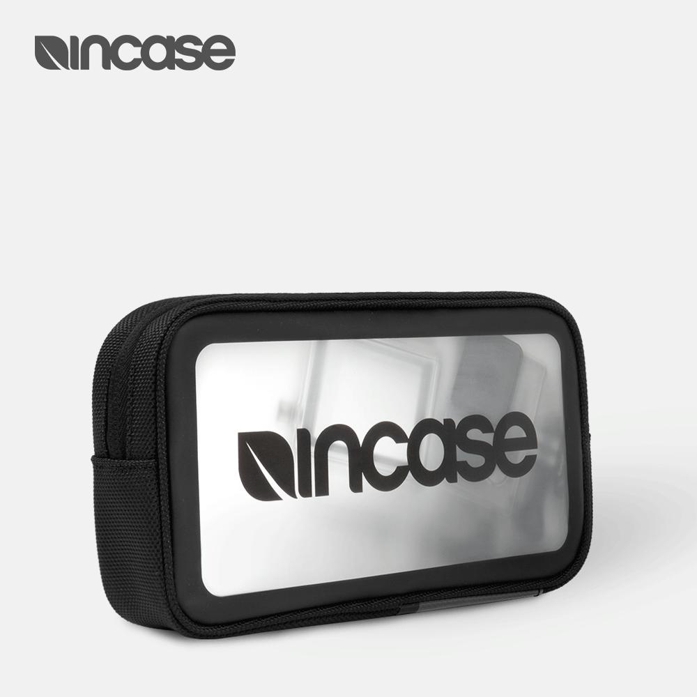INCASE 蘋果數碼配件附件 休閒差旅儲存防潑水 資料線 透明收納包