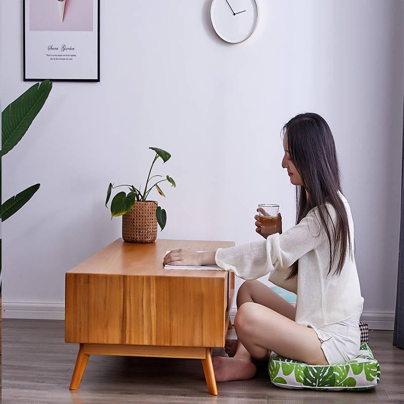 【棉麻坐垫 厚度10CM】榻榻米加厚餐椅垫子电脑椅学生办公室座垫