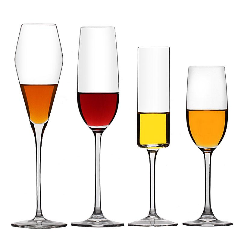 水晶香槟杯高脚杯鸡尾酒杯红酒杯创意欧式气泡杯玻璃2个套家用