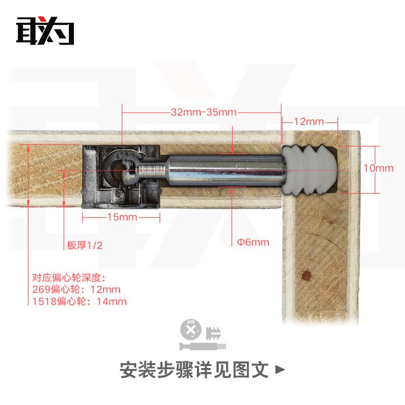 木工三合一打孔定位器圆木榫08350二合一木工工具板式家具打孔器