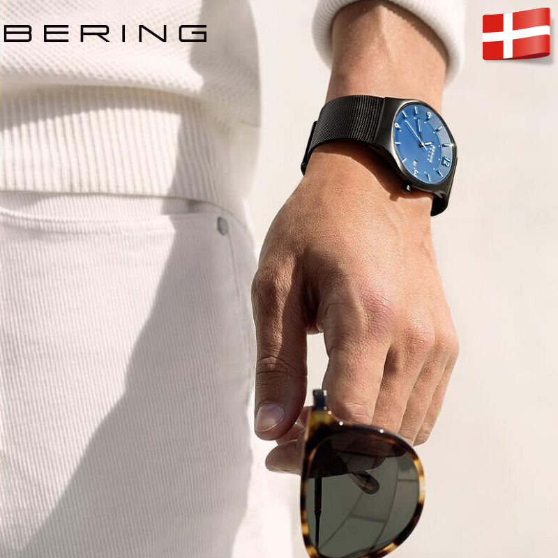 dw Bering 白令手表男光能表商务时尚潮流夜光防水小众太阳能 手表