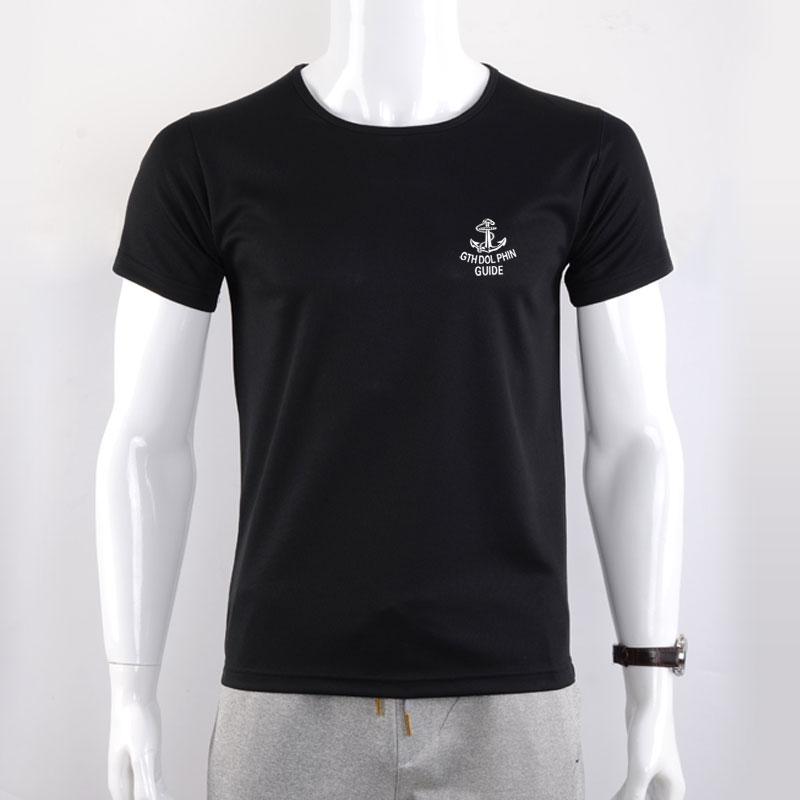 防水防污男短袖t恤纳米黑科技防水防污透气圆领宽松速干半袖上衣