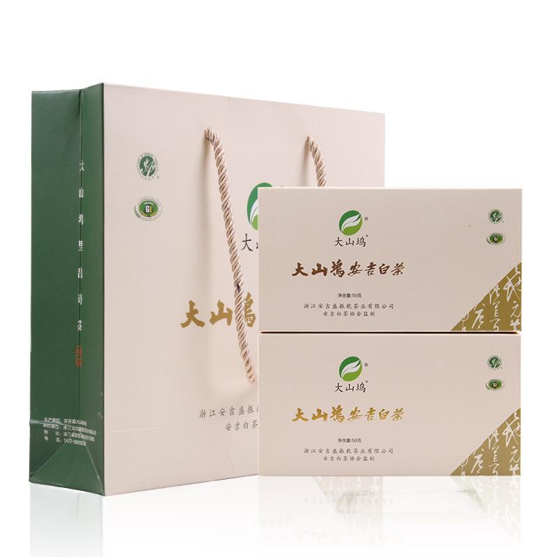 礼盒装正宗 100g 年新茶雨前茶叶特级珍稀绿茶春茶 2018 大山坞安吉白