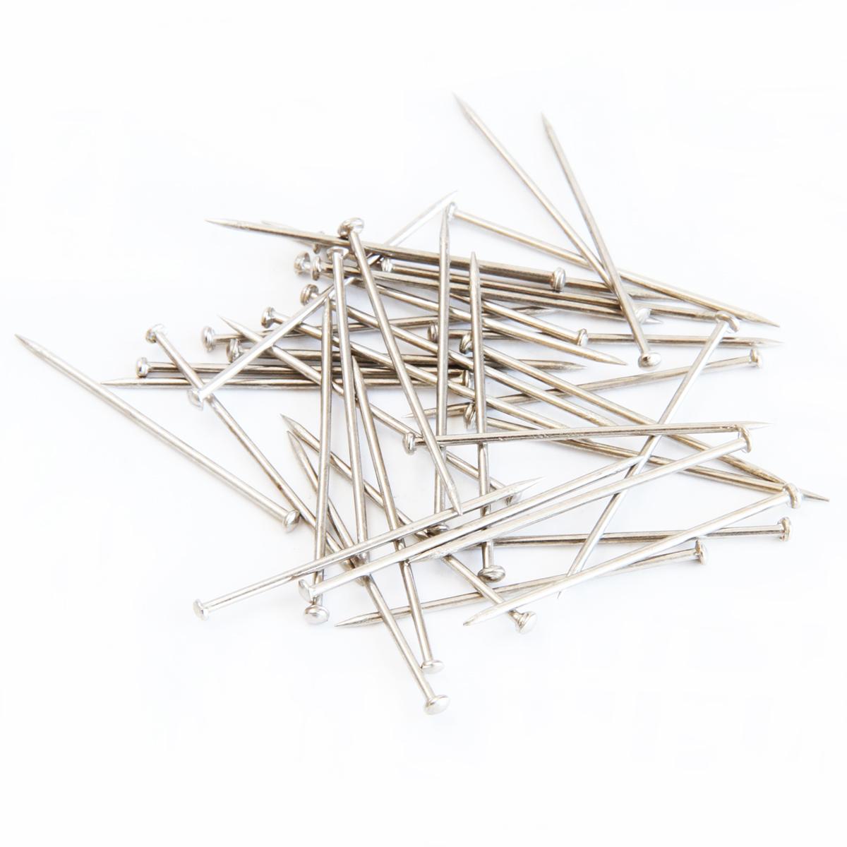 得力0039镀镍金属3#大头钉直别针大头针定位针办公用品文具用品