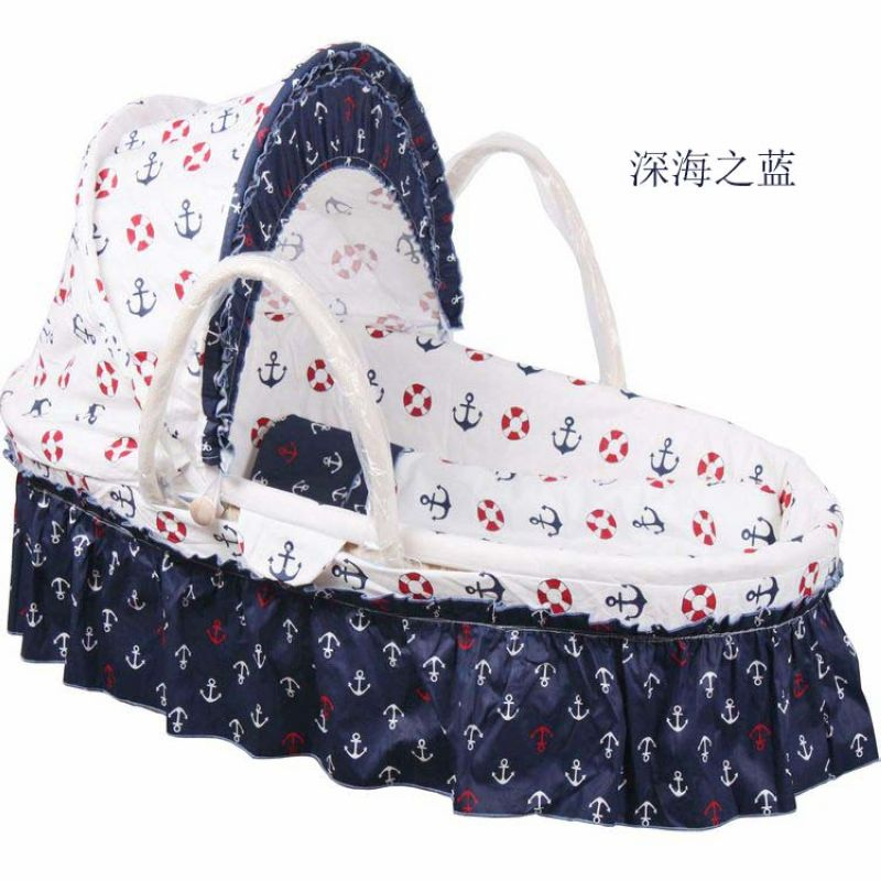 婴儿篮子手提篮便携式外出新生婴儿出院睡篮车载蓝子草编摇篮床筐