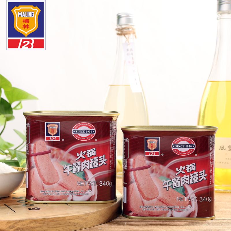 上海梅林 火锅午餐肉罐头 340g*4罐