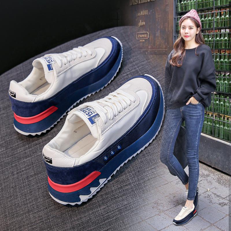韓國網紅復古阿甘鞋女鞋2020新款夏季透氣厚底老爹運動休閑鞋單鞋