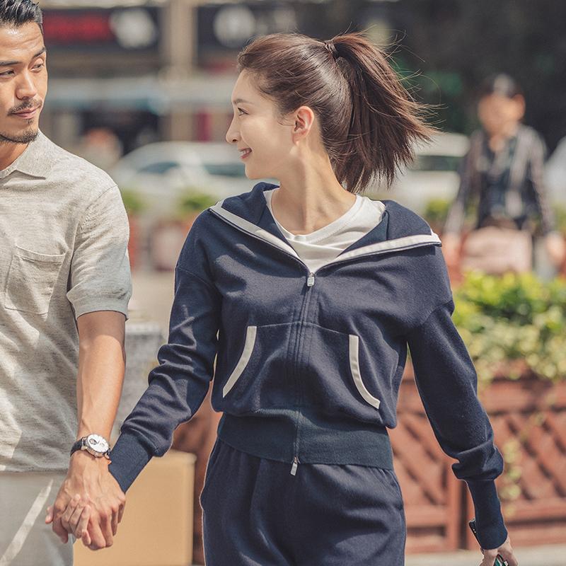 三十而已江疏影王漫妮同款时尚休闲运动套装卫衣宽松阔腿裤两件