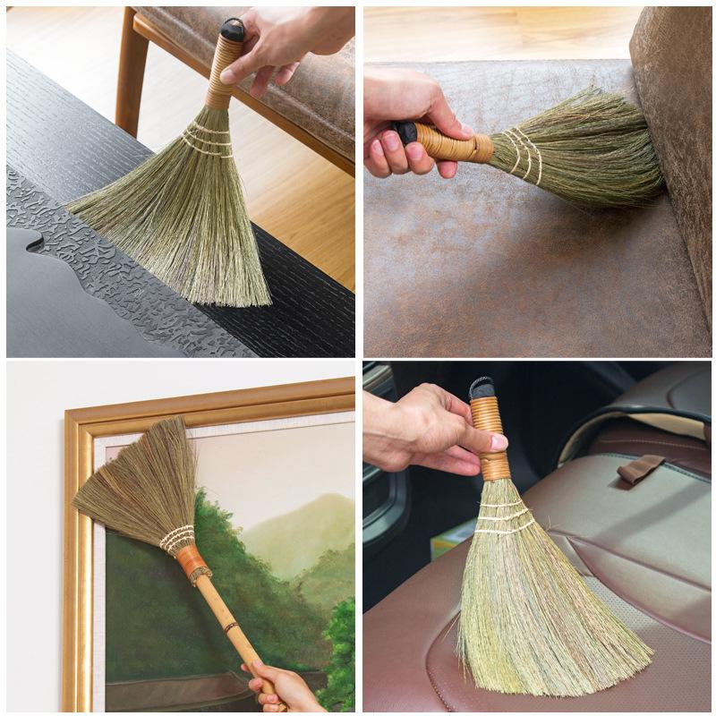 日本进口扫帚笤帚清洁工具小扫把天然床扫汽车刷挂件迷你吉祥