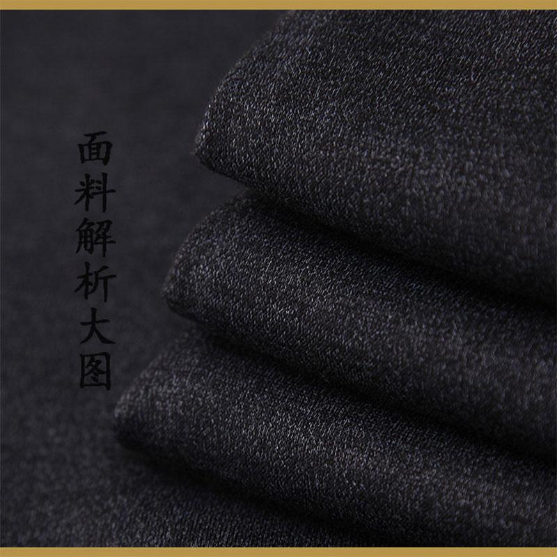 中老年人男加绒裤子爸爸爷爷外穿加厚款宽松长裤60岁70冬季棉裤80