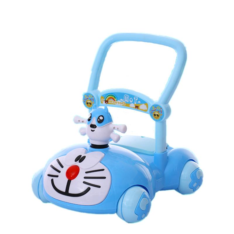 宝宝手推学步车7-18个月婴儿童助步车多功能防侧翻音乐灯光玩具