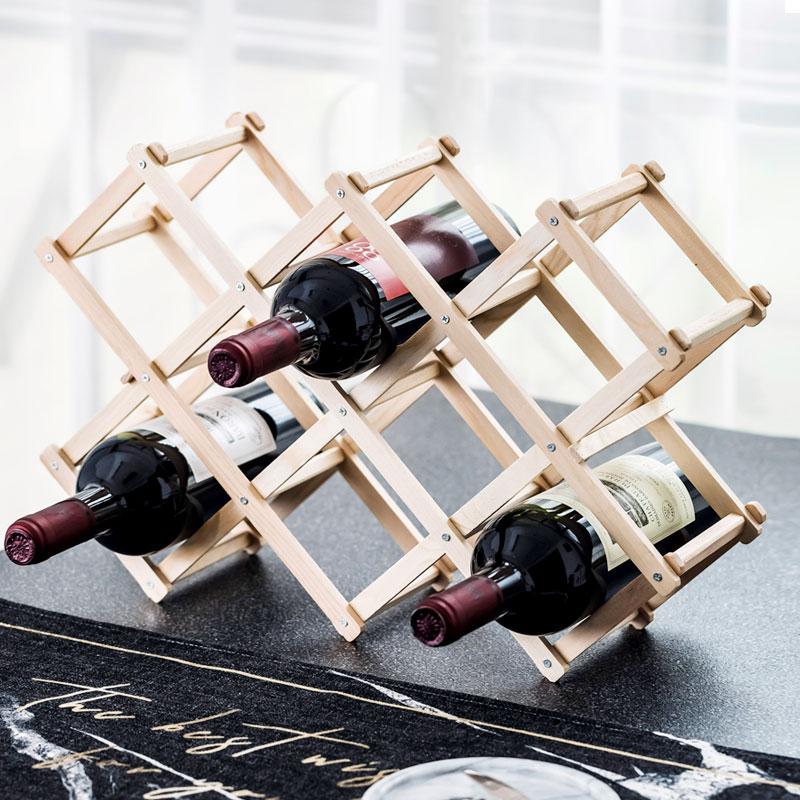 欧式实木红酒架摆件创意葡萄酒架实木展示架家用酒瓶架客厅酒架子