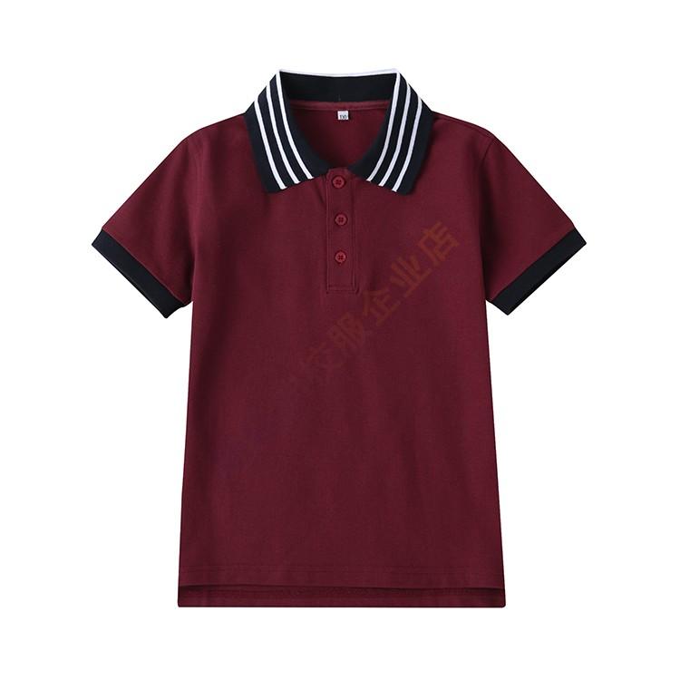 中小学生校服儿童学院风班服英伦风园服夏装湖兰色短袖上衣老师装
