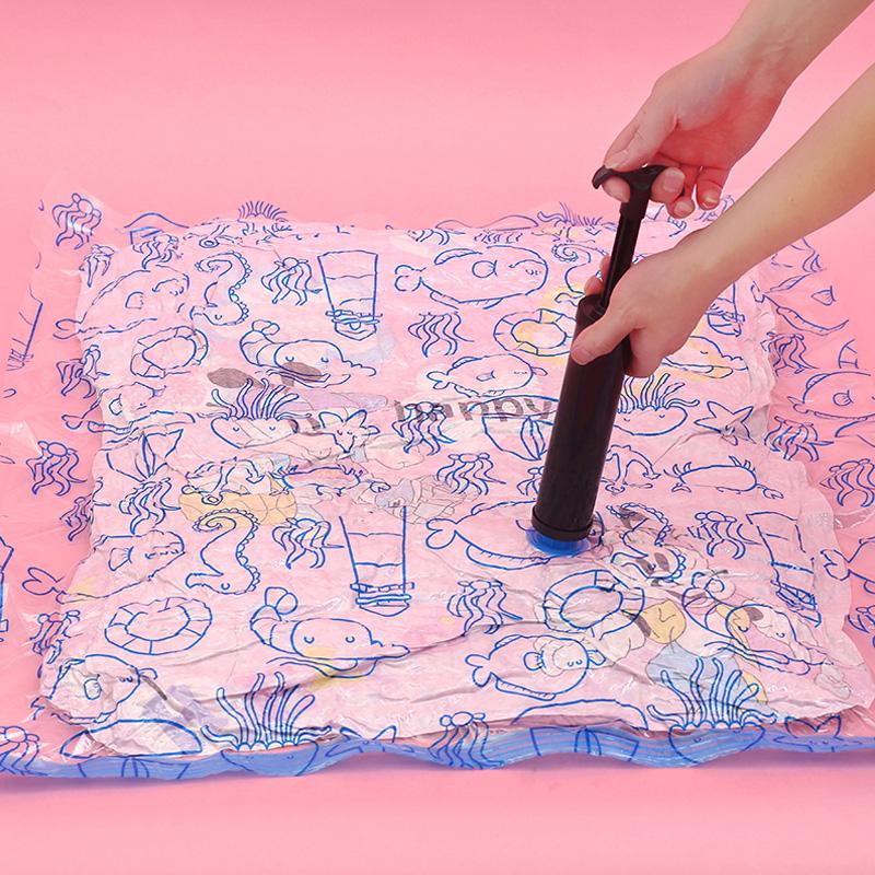 真空衣物压缩袋被子收纳袋大号棉被抽气袋加厚衣服打包袋满送电泵