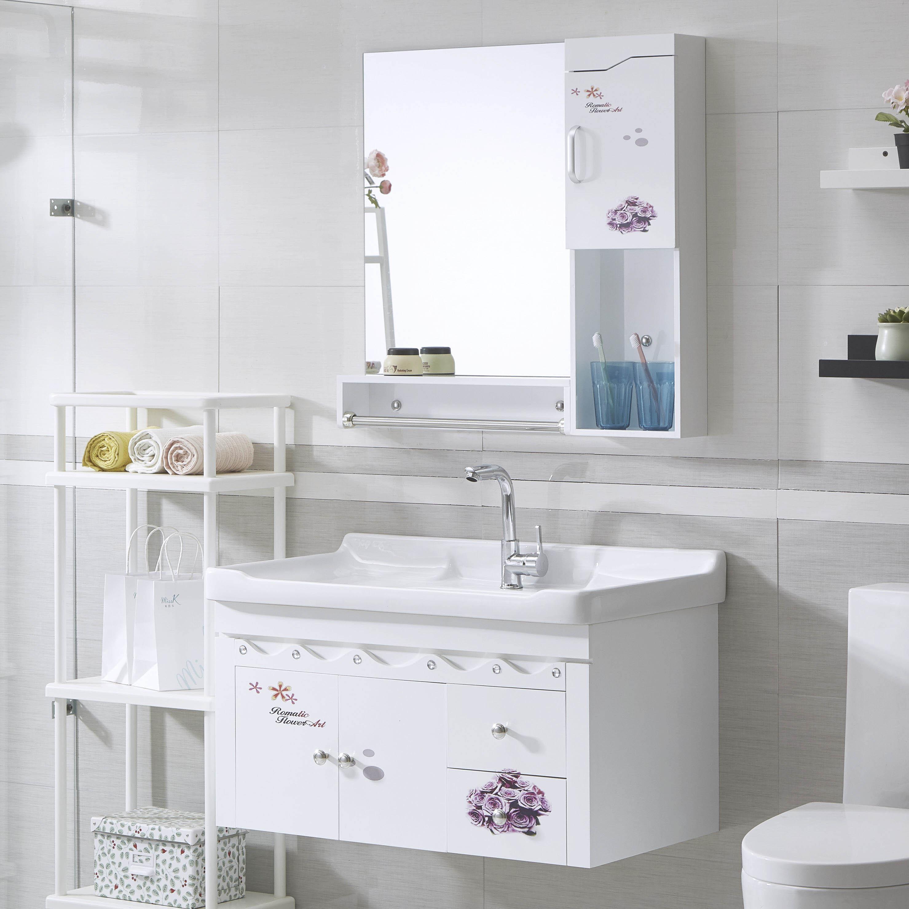 卫浴欧式浴室柜组合小户型现代简约卫生间洗脸洗手台盆池柜洗漱台