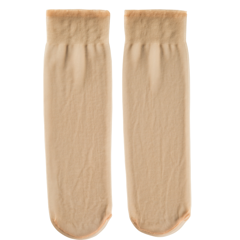 脚尖透明肉色丝袜女夏季超薄款耐磨隐形短袜防勾丝水晶丝短筒袜子