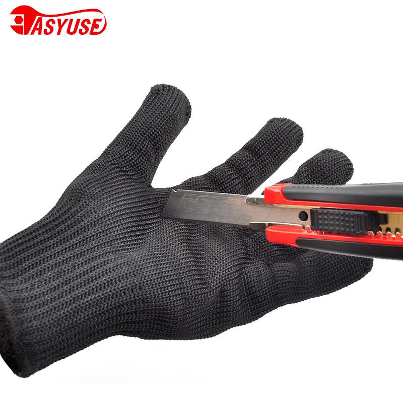 齐迈加厚5级钢丝防割手套不锈钢防切割耐磨防护防刀割劳保手套