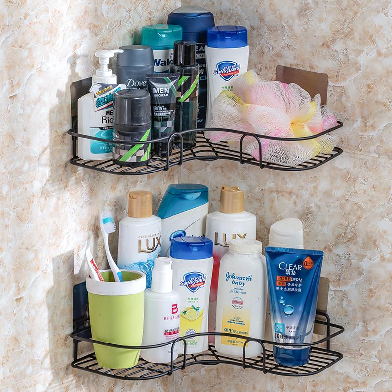 浴室三角架转角置物架免打孔墙壁挂式厨房洗漱台厕所卫生间收纳架