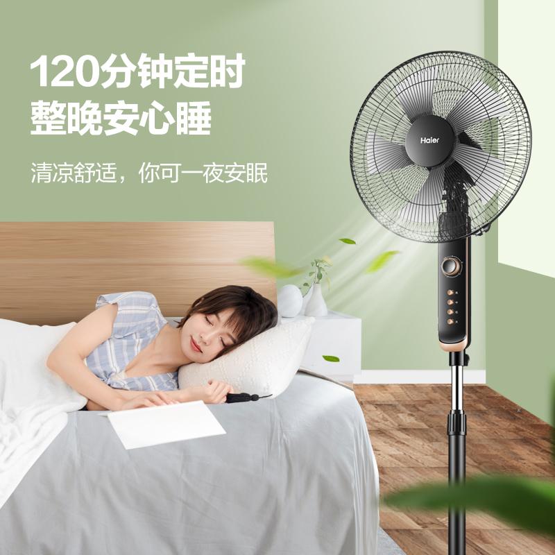 海尔电风扇落地扇家用卧室节能摇头电扇台式立式工业定时宿舍风扇 No.4