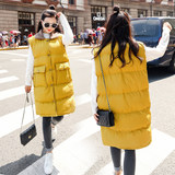Adding fertilizer to increase the size of maternity clothes autumn and winter coat in the long section loose tide vest black vest winter coat 200 kg