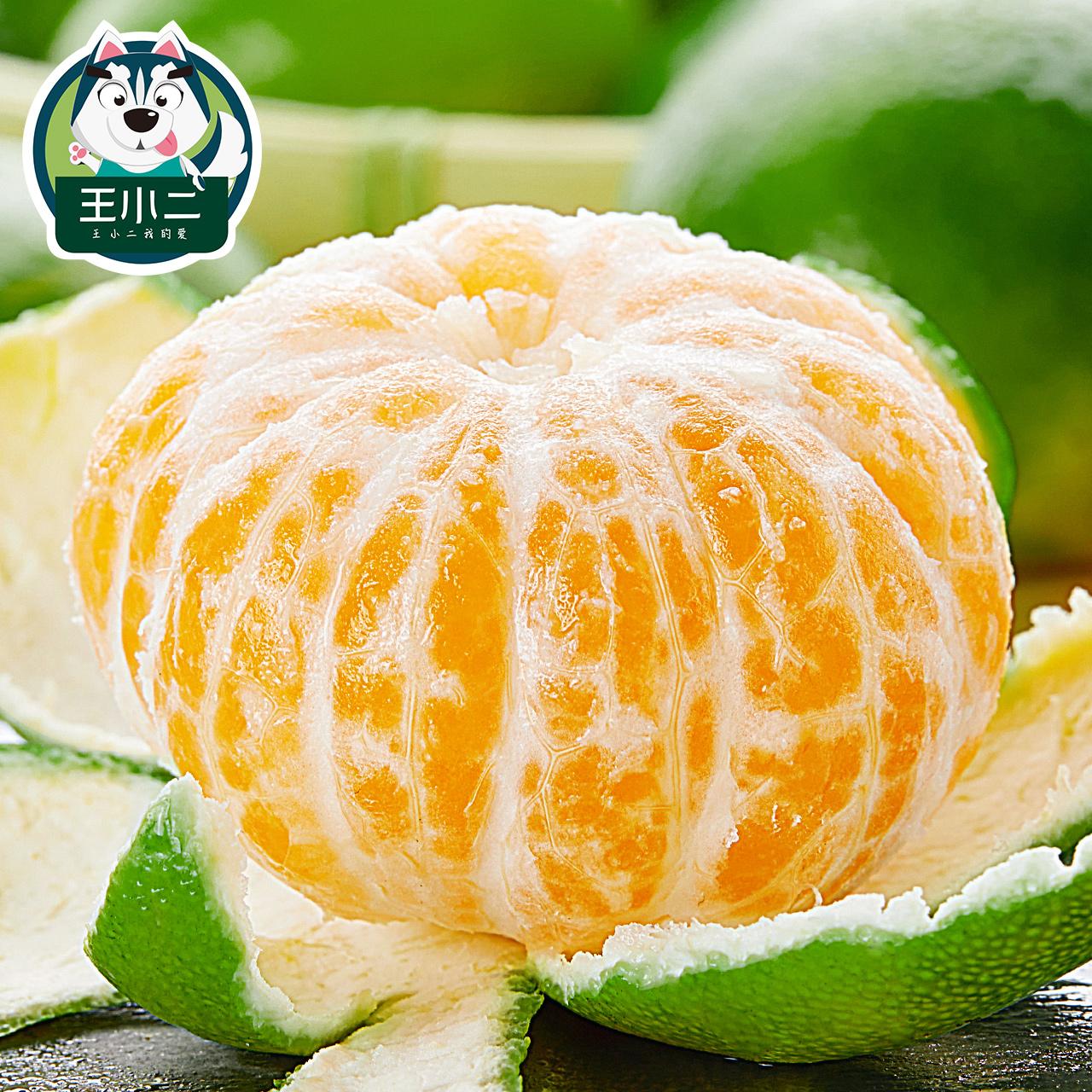 王小二 云南青皮蜜桔新鲜水果包邮橘子整箱桔子应季特产10斤蜜橘