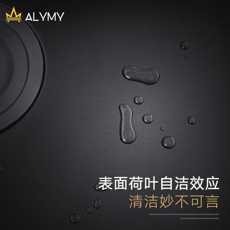 不銹鋼水池洗碗池菜盆家用 304 納米洗菜盆廚房 德國黑色水槽雙槽