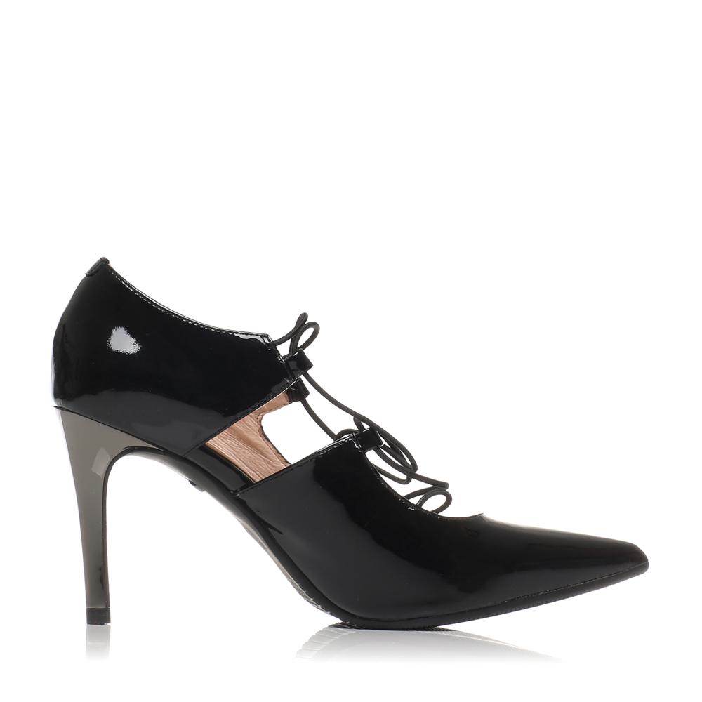 LXX30AQ6 猪皮蛇纹绑带高跟单鞋浅口女鞋 妙丽牛皮 s millie