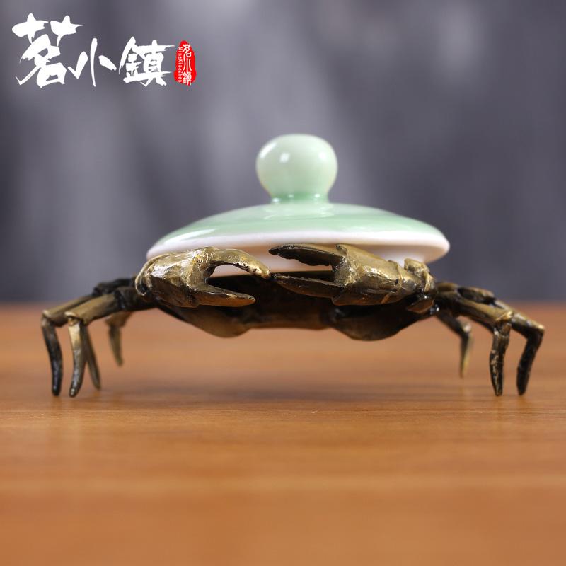 铁壶置盖托蚂蚁蚂蚱紫砂壶盖架茶宠功夫茶具茶道配件螃蟹壶盖置